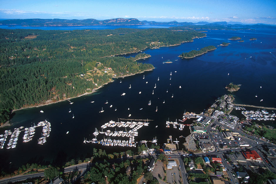Ganges Harbour, Salt Spring Island, Gulf Islands, British Columbia